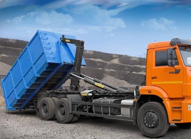 заказать вывоз мусора контейнером 27 кубов - фото