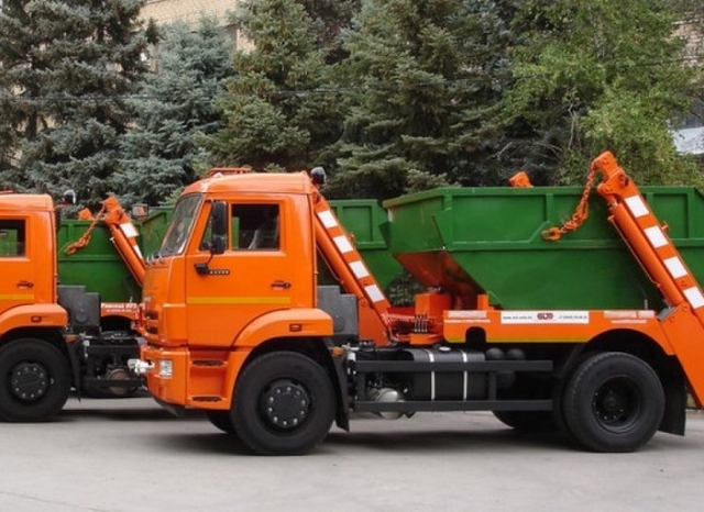 заказать вывоз мусора контейнером 8м3 - фото